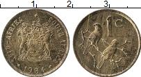 Изображение Монеты ЮАР 1 цент 1984 Бронза UNC- Птицы