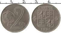 Продать Монеты Чехословакия 2 кроны 1991 Медно-никель