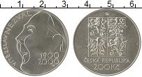 Изображение Монеты Чехия 200 крон 2000 Серебро UNC Витеслав Незвал