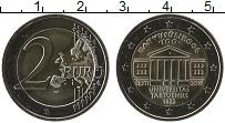 Изображение Мелочь Эстония 2 евро 2019 Биметалл UNC 100 лет перевода обу