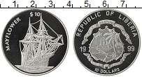 Изображение Монеты Либерия 10 долларов 1999 Серебро Proof-