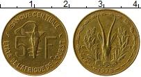 Изображение Монеты Западная Африка 5 франков 1978 Латунь XF