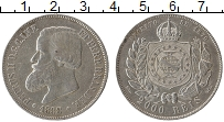 Изображение Монеты Бразилия 2000 рейс 1888 Серебро XF