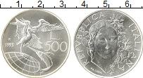 Изображение Монеты Италия 500 лир 1993 Серебро UNC Защита дикой природы
