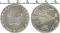 Изображение Монеты Чехия 200 крон 2008 Серебро UNC 150 лет со дня рожде