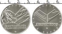 Изображение Монеты Чехия 200 крон 2009 Серебро UNC Чемпионат мира по лы