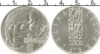 Изображение Монеты Чехия 200 крон 2001 Серебро UNC 200 лет со дня рожде