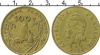 Изображение Монеты Полинезия 100 франков 2008 Латунь XF