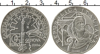 Изображение Мелочь Европа Италия 10 евро 2004 Серебро UNC