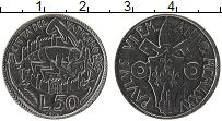 Изображение Монеты Ватикан 50 лир 1975 Медно-никель UNC Понтифик Павел VI.