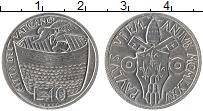 Изображение Монеты Ватикан 10 лир 1975 Алюминий UNC Понтифик Павел VI. Н