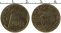 Изображение Монеты Ватикан 20 лир 1975 Латунь UNC