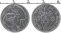 Изображение Монеты Ватикан 5 лир 1975 Алюминий UNC Павел VI
