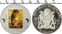 Изображение Мелочь Малави 10 квача 2004 Посеребрение Proof-