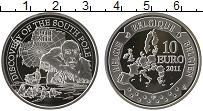 Продать Монеты Бельгия 10 евро 2011 Серебро