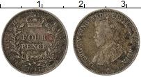 Изображение Монеты Великобритания Британская Гвиана 4 пенса 1917 Серебро VF