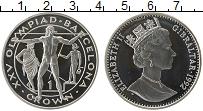 Изображение Монеты Гибралтар 1 крона 1992 Серебро Proof-