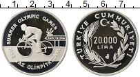 Изображение Монеты Турция 20000 лир 1992 Серебро Proof