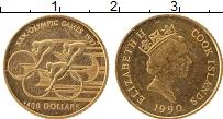 Изображение Монеты Острова Кука 100 долларов 1990 Золото Proof-