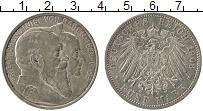 Продать Монеты Баден 5 марок 1906 Серебро