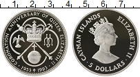 Продать Монеты Каймановы острова 5 долларов 1993 Серебро