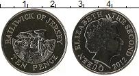 Изображение Монеты Остров Джерси 10 пенсов 2012 Медно-никель UNC Елизавета II.Стоунхе