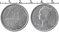 Изображение Монеты Африка Сен-Пьер и Микелон 2 франка 1948 Алюминий UNC-