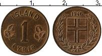 Изображение Монеты Исландия 1 эйре 1946 Бронза UNC-