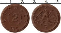 Продать Монеты Германия : Нотгельды 2 марки 1921 Фарфор