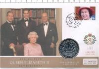 Изображение Подарочные монеты Сьерра-Леоне 1 доллар 2002 Медно-никель UNC 50 лет правления Ели