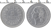 Изображение Монеты Франция 5 франков 1947 Алюминий XF