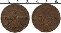 Изображение Монеты Швеция 1/2 скиллинга 1802 Медь XF Карл IV Адольф