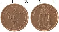 Изображение Монеты Швеция 2 эре 1899 Бронза XF Оскар II