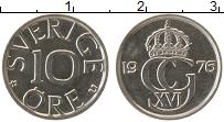 Изображение Монеты Швеция 10 эре 1976 Медно-никель UNC-