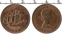 Изображение Монеты Великобритания 1/2 пенни 1958 Бронза UNC-