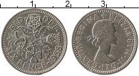 Изображение Монеты Великобритания 6 пенсов 1958 Медно-никель XF Елизавета II