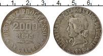 Изображение Монеты Бразилия 2000 рейс 1908 Серебро UNC- Республика