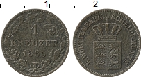 Изображение Монеты Вюртемберг 1 крейцер 1865 Серебро XF-