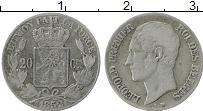 Изображение Монеты Бельгия 20 сантим 1852 Серебро XF Леопольд I