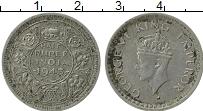 Изображение Монеты Индия 1/2 рупии 1943 Серебро XF Георг VI