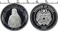 Изображение Монеты Тонга 50 сенити 1996 Серебро Proof-