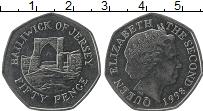 Изображение Монеты Остров Джерси 50 пенсов 1998 Медно-никель UNC-