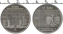 Изображение Монеты Германия 10 евро 2007 Серебро Proof 50 лет Немецкому фед