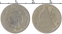 Изображение Монеты США 1 дайм 1888 Серебро VF