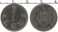 Изображение Монеты Молдавия 1 лей 1992 Медно-никель XF