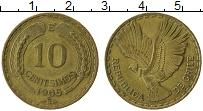 Изображение Монеты Чили 10 сентесим 1966 Латунь XF Кондор