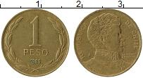 Изображение Монеты Чили 1 песо 1989 Латунь XF