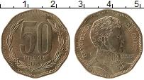 Изображение Монеты Чили 50 песо 1995 Бронза UNC- Бернардо О'Хиггинс