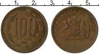 Изображение Монеты Чили 100 песо 1985 Бронза XF