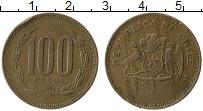Изображение Монеты Чили 100 песо 1992 Бронза XF